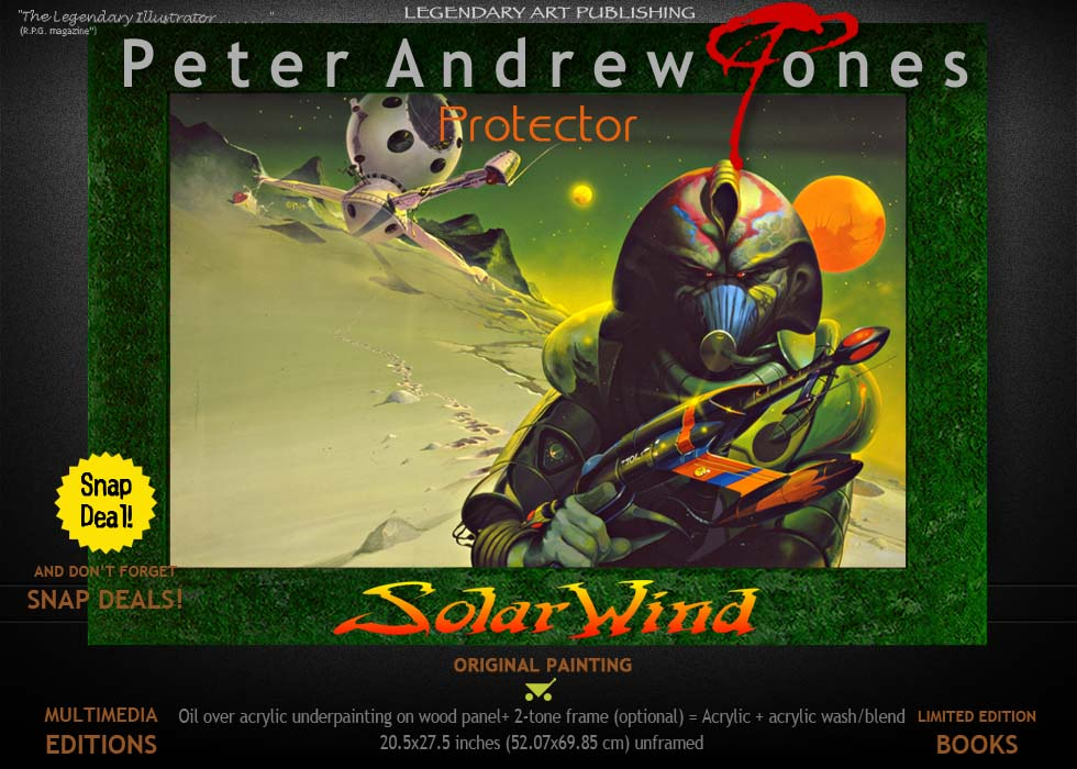 Solar Wind Oil Painting and Limited Edition Print Protector